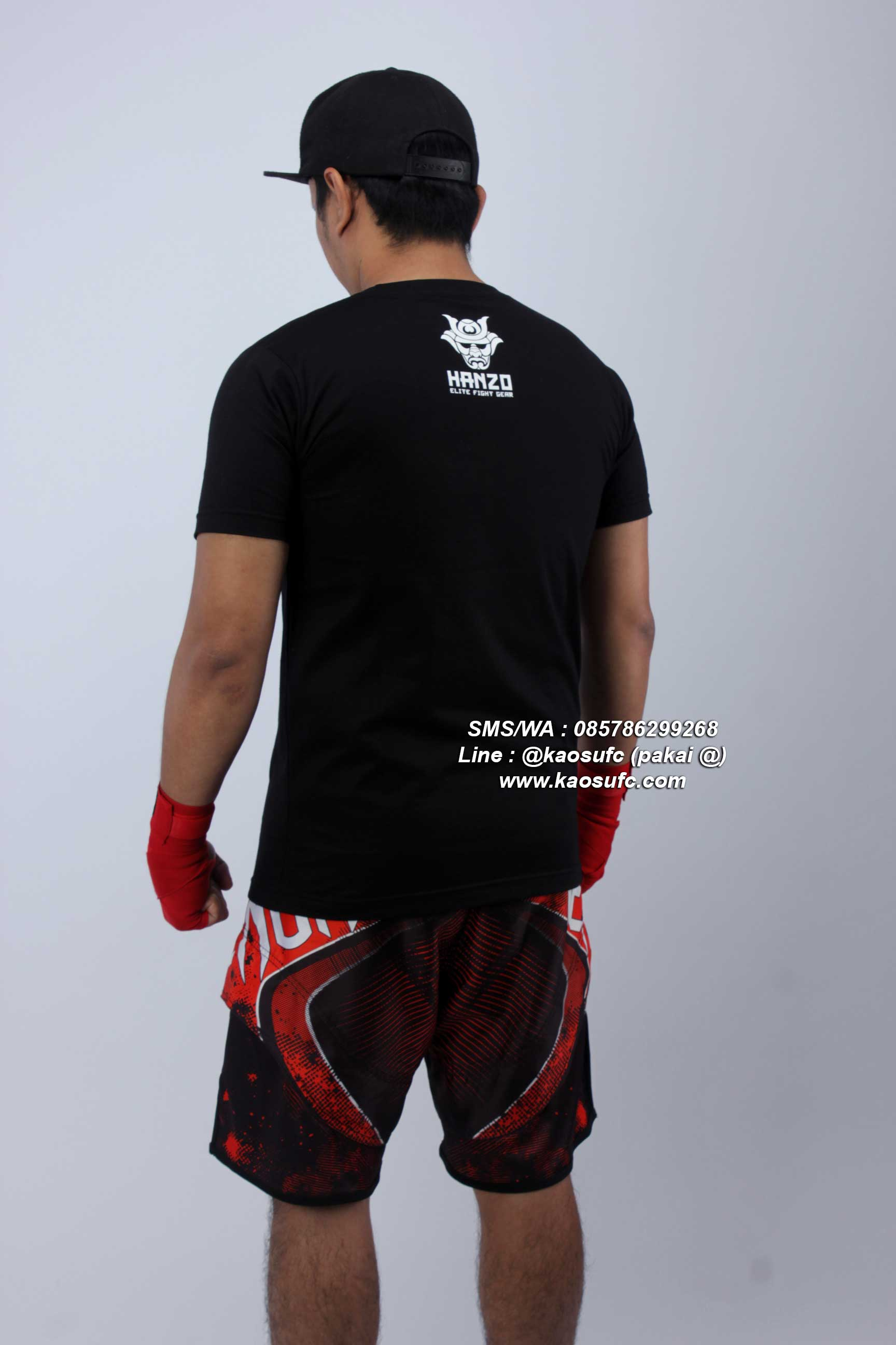 baju latihan muay thai hanzo elite fight gear